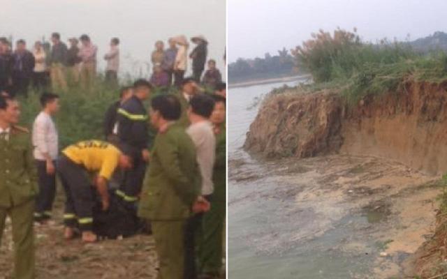 Hi hữu hai người đàn ông bị nước cuốn mất tích khi đang câu cá