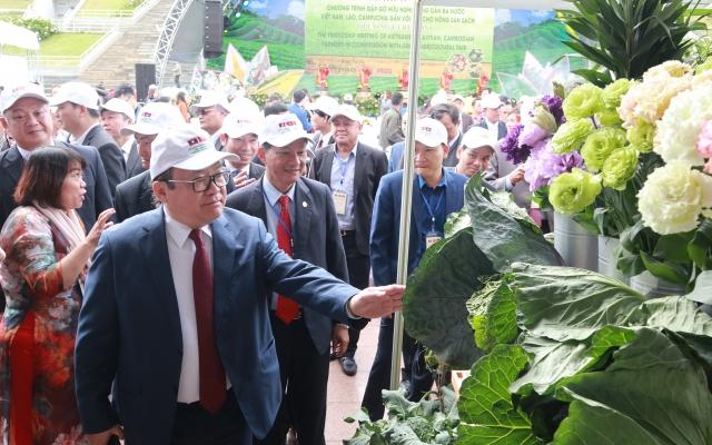 Khai mạc Chương trình gặp gỡ hữu nghị nông dân ba nước Việt Nam, Lào, Campuchia