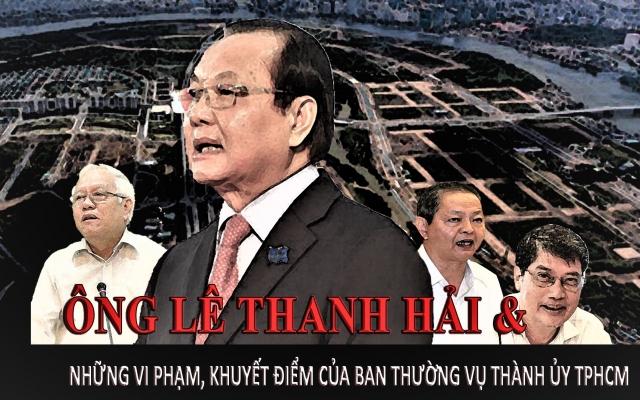 Infographics -  Ông Lê Thanh Hải và những vi phạm, khuyết điểm của Ban Thường vụ Thành ủy TPHCM