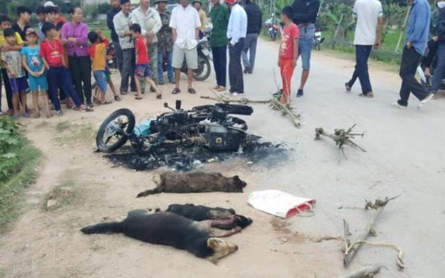 Nghi trộm chó, một người bị vây đánh chết, đốt xe máy
