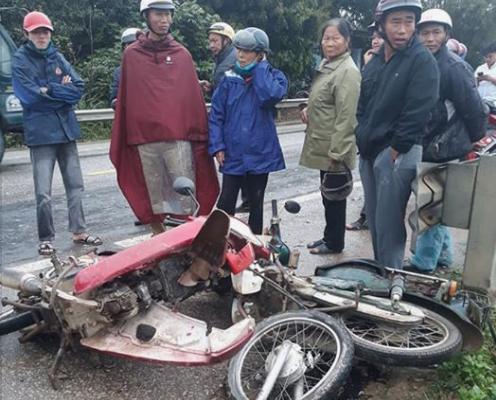 Tai nạn liên hoàn trên quốc lộ 46, 3 người nhập viện