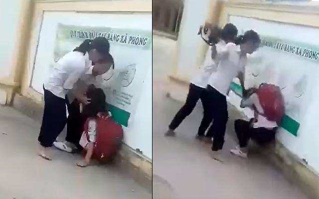 Chê mẫu áo mỏng, nữ sinh bị đánh hội đồng ngay trước cổng trường