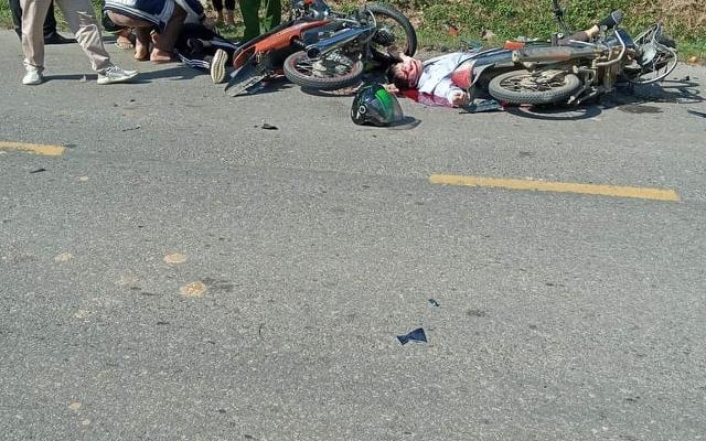 Hòa Bình: 1 người tử vong sau tình huống đấu đầu giữa 2 xe máy
