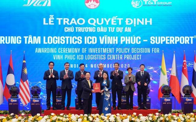 """Thủ tướng khởi động mạng lưới Logistics thông minh ASEAN (ASLN) với dự án đầu tiên """"Trung tâm Logistics ICD Vĩnh Phúc"""" (SuperPort ™)"""