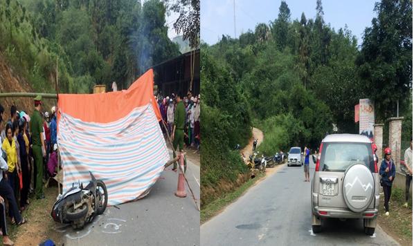 [Clip]: Ô tô Ford Everest va chạm với xe máy khiến 2 người tử vong ở Hà Giang