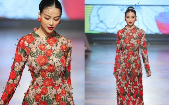 Hoa hậu Phương Khánh tái xuất sàn diễn sau 1 năm vắng bóng