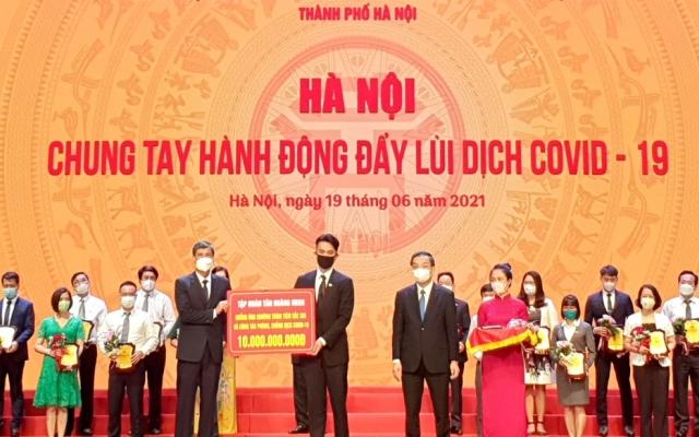 Tập đoàn Tân Hoàng Minh ủng hộ Hà Nội 20 tỷ đồng phòng chống Covid-19