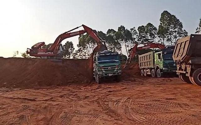 Vĩnh Phúc: Dự án đường tỉnh 309B sử dụng đất khai thác bất hợp pháp