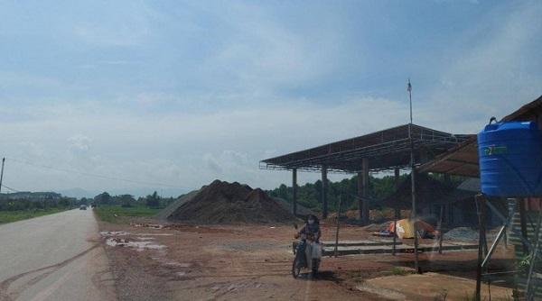 Doanh nghiệp xây cây xăng sai phép, tự ý đấu nối vào QL37 tại Bắc Giang