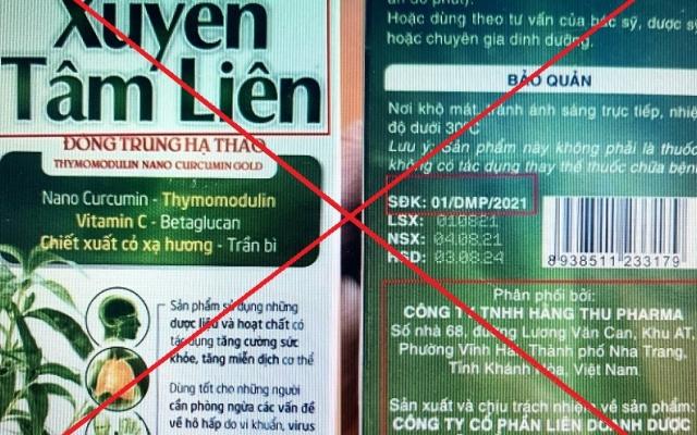 Công an Khánh Hòa điều tra Thực phẩm bảo vệ sức khỏe Xuyên Tâm Liên giả mạo