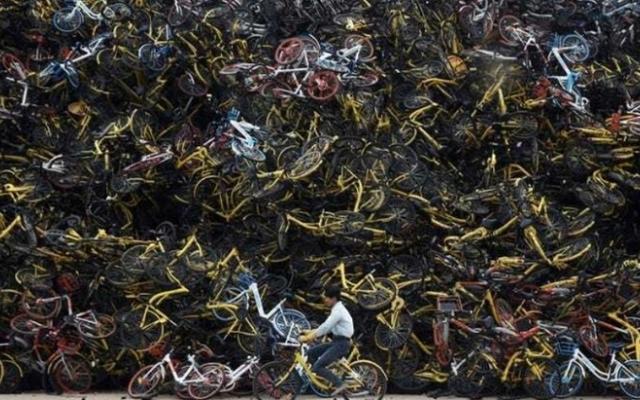 """Ảnh khó tin về nghĩa địa xe đạp """"khổng lồ"""" tại Trung Quốc"""