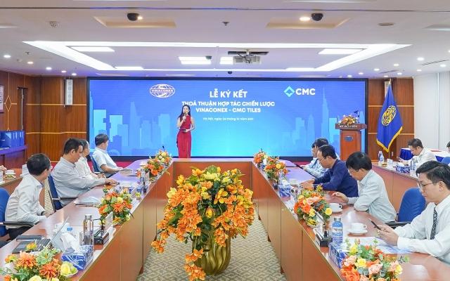 CMC và Vinaconex ký kết hợp tác chiến lược toàn diện trên nhiều lĩnh vực