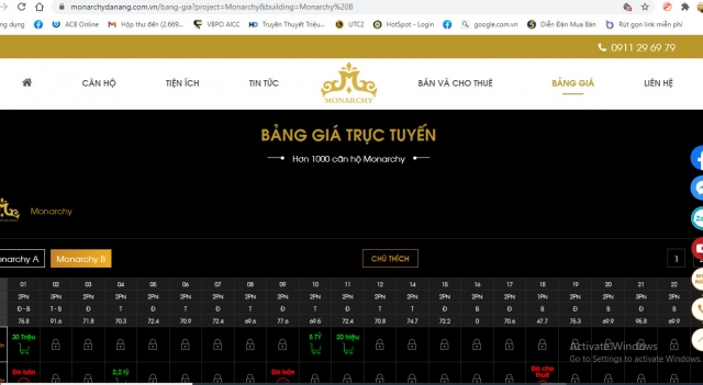 Ra mắt bảng giá trực tuyến căn hộ chung cư cao cấp tại Đà Nẵng