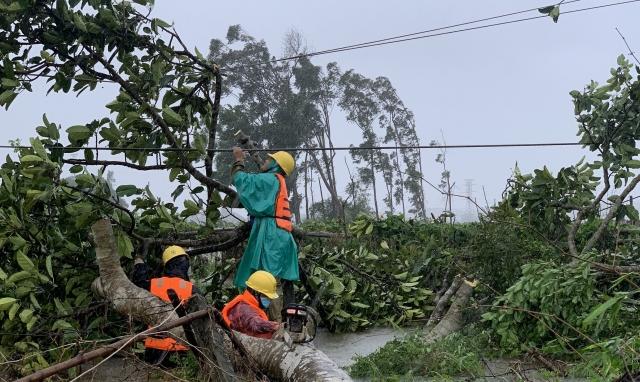 EVNCPC: 99,83% khách hàng được cấp điện trở lại sau bão số 5
