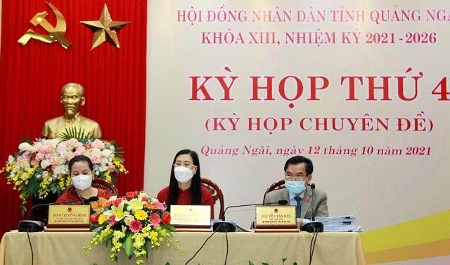 Quảng Ngãi tổ chức Kỳ họp thứ 4 HĐND tỉnh khóa XIII