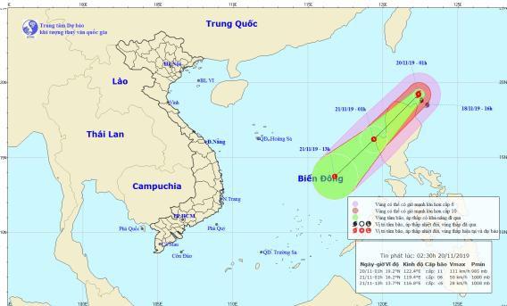 Dự báo thời tiết hôm nay: Bão Kalmaegi mạnh cấp 11 hướng vào Biển Đông