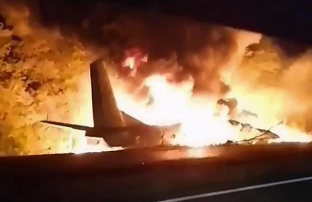 Máy bay quân sự rơi ở Ukraine, 22 người thiệt mạng