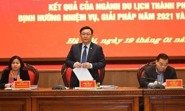 Bí thư Hà Nội Vương Đình Huệ: Sự phục hồi du lịch là yếu tố quan trọng bậc nhất