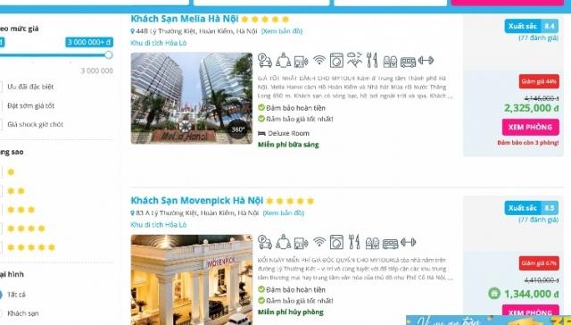 Khách sạn 5 sao bậc nhất Hà Nội chỉ 1 triệu/đêm