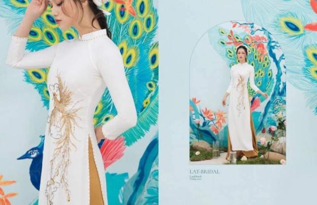 Chiêm ngưỡng bộ sưu tập áo dài cưới Hoa Nguyệt Điểu của nhà thiết kế Lan Anh Lê