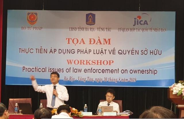 Lắng nghe vướng mắc trong thực thi pháp luật về quyền sở hữu tài sản