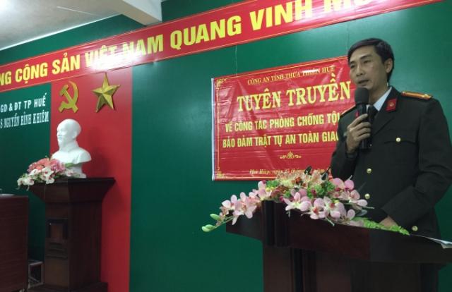 Công an tỉnh Thừa Thiên Huế hoàn thành tốt nhiệm vụ tuyên truyền phòng chống tội phạm 2017