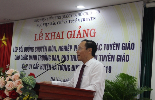 Học viện Báo chí và Tuyên truyền khai giảng lớp bồi dưỡng chuyên môn nghiệp vụ công tác tuyên giáo