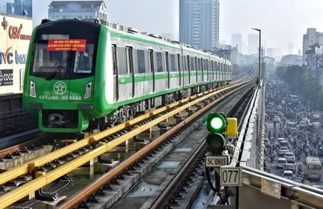 Sắp vận hành thử 20 ngày tuyến đường sắt Cát Linh-Hà Đông