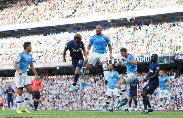 Man City 2-2 Tottenham: Man City đánh rơi chuyến thắng phút bù giờ vì VAR