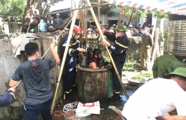 Hé lộ nguyên nhân hai bố con tử vong dưới giếng nước ở Thanh Hoá?
