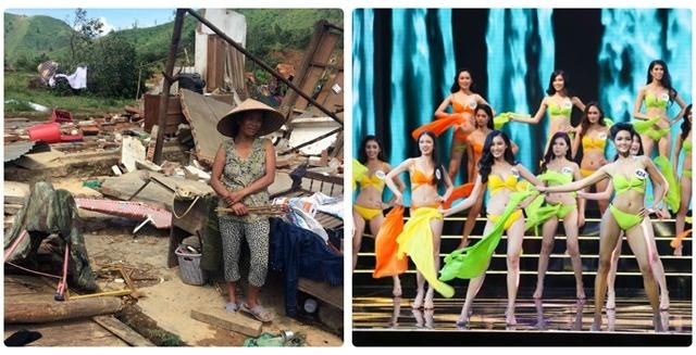 """VTV nói gì khi vẫn truyền hình trực tiếp """"Hoa hậu Hoàn vũ Việt Nam 2017"""" lúc cả nước đau lòng vì bão lũ?"""