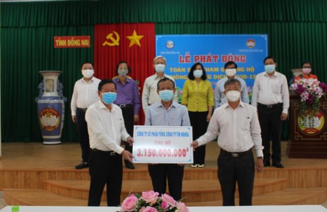 Đồng Nai: Hơn 11 tỷ đồng ủng hộ phòng, chống dịch bệnh Covid-19