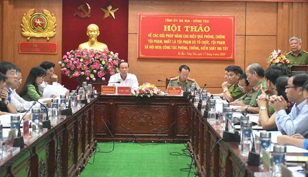 Bà Rịa - Vũng Tàu tổ chức Hội thảo về các giải pháp phòng, chống các loại tội phạm