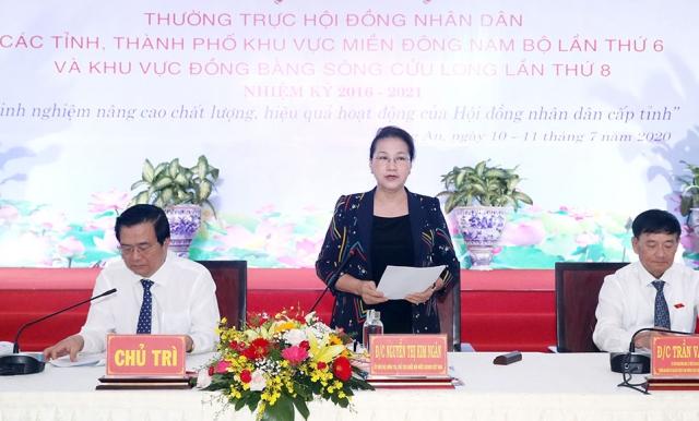 Chủ tịch Quốc hội Nguyễn Thị Kim Ngân tham dự Hội nghị Thường trực HĐND các tỉnh, thành phố khu vực Đông Nam Bộ