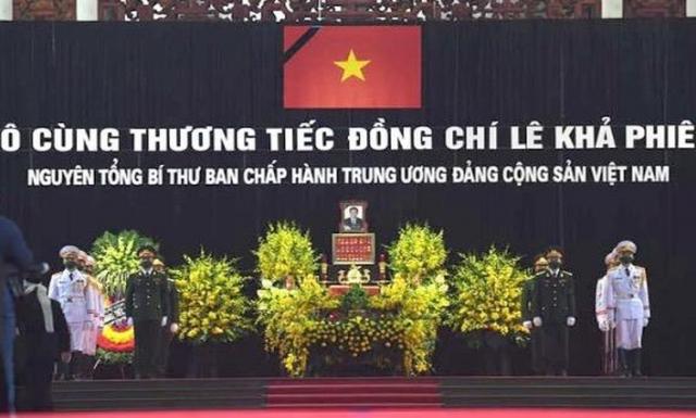 Trang nghiêm lễ tang nguyên Tổng Bí thư Lê Khả Phiêu tại quê nhà Thanh Hoá