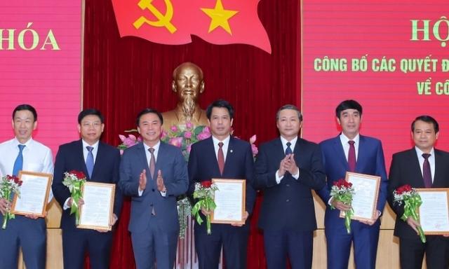 Công bố các vị trí chủ chốt Tỉnh ủy và Sở ngành tại Thanh Hóa