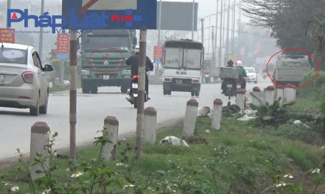 """""""Mật chỉ"""" logo thuyền buồm đỏ trên những chiếc xe tải chạy rầm rầm ở Hưng Yên"""