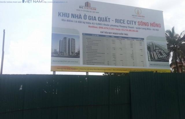 """Dự án NƠXH Rice City Sông Hồng """"chết dí"""" sau 2 năm khởi công"""