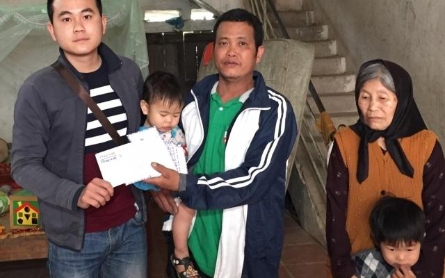 Quỹ nhịp cầu Plus hỗ trợ 6 trẻ mồ côi cha mẹ ở Hiệp Hòa, Bắc Giang