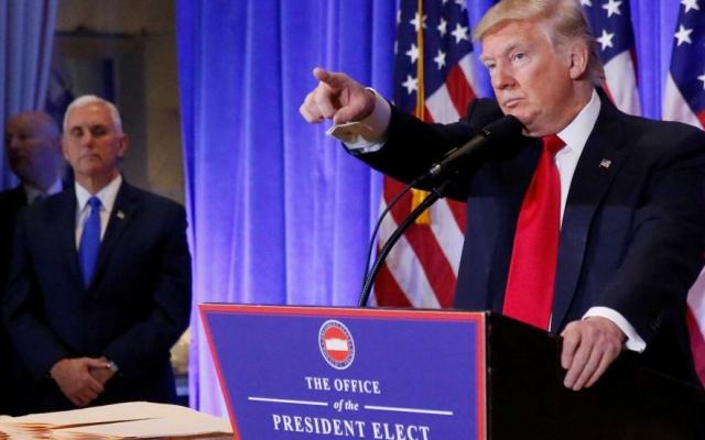 Điểm nhấn quan trọng trong cuộc họp báo đầu tiên của Tổng thống đắc cử Donald Trump