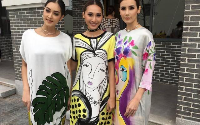 Hoa hậu Trái đất Thái Lan thân thiết với Kiều Ngân – Khánh Ngọc