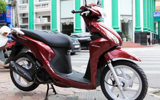 Honda Vision là mẫu xe máy bán chạy nhất Việt Nam