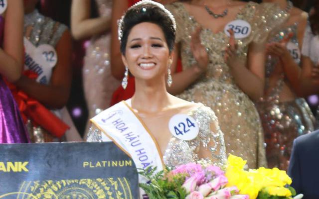 Chung kết Hoa hậu Hoàn vũ Việt Nam 2017: H'Hen Niê giành vương miện trị giá 2,7 tỷ đồng