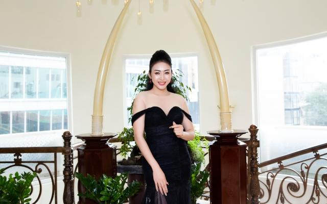 Hoa hậu Nhật Phượng khoe vẻ đẹp huyền bí tại cuộc thi sắc đẹp
