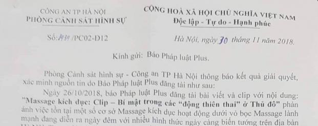 """Công an Hà Nội bắt quả tang nhiều cô gái kích dục cho """"thượng đế"""" sau phản ánh của Pháp luật Plus"""