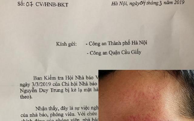 Hội Nhà báo Việt Nam đề nghị Công an điều tra, làm rõ vụ phóng viên bị hành hung