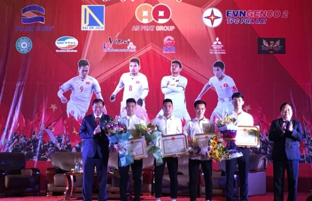 Tỉnh Hải Dương vinh danh 4 tuyển thủ U23 Việt Nam