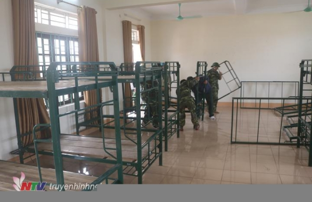 Nghệ An: Huyện Quỳnh Lưu chuẩn bị khu cách ly tập trung để đón công dân trở về