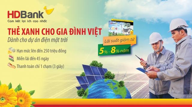"""HDBank triển khai chương trình """"Thẻ Xanh cho gia đình Việt"""""""
