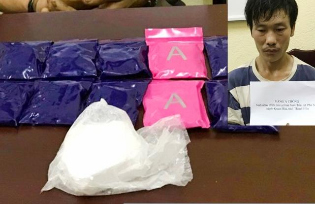 Buôn bán ma túy kiếm chênh lệch, Vàng A Chổng đã bị bắt